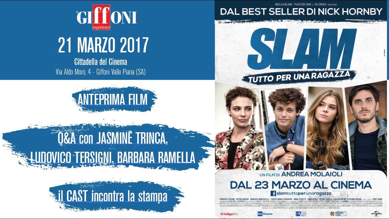 """""""SLAM – Tutto per una ragazza"""" a Giffoni, Il 21 marzo evento speciale con Jasmine Trinca"""
