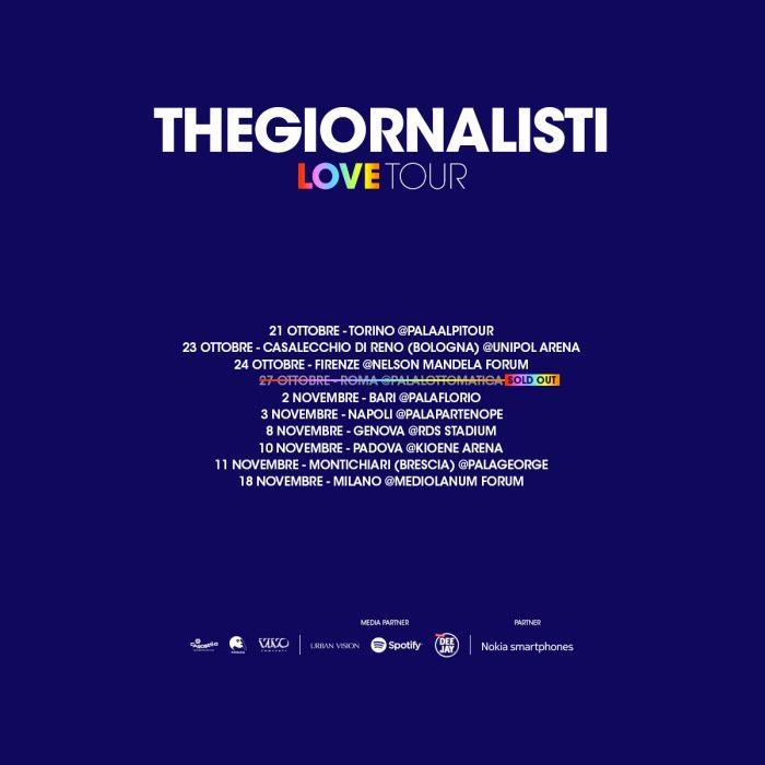 THEGIORNALISTI – SOLD OUT LA DATA DI ROMA CON 4 MESI D'ANTICIPO!