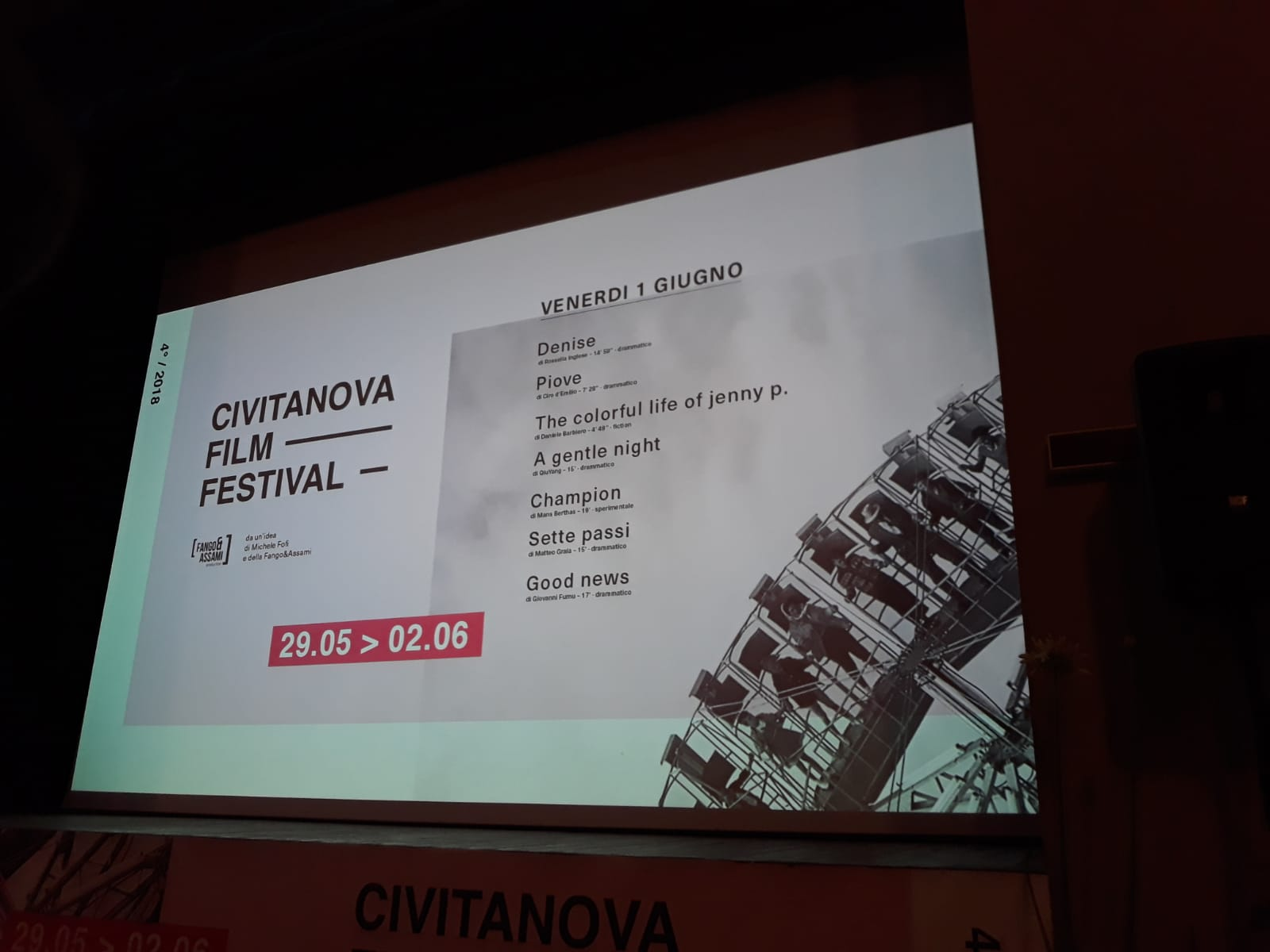 CFF Civitanova Film Festival, Edoardo Winspeare e gli altri corti in concorso