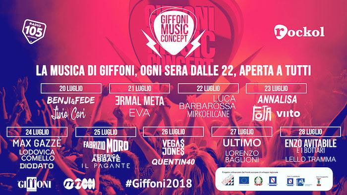 Tanta musica alla 48ᵃ edizione del #GIFFONI2018