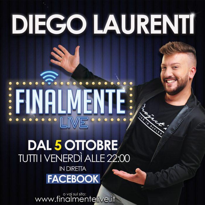 """""""Finalmente Live!"""", il primo web-talk show italiano presentato da Diego Laurenti."""