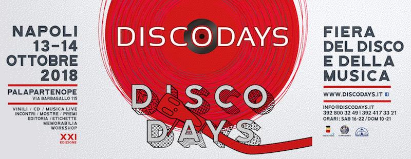 Napoli – il 13 e 14 ottobre la XXI edizione della fiera del Vinile e della Musica DiscoDays