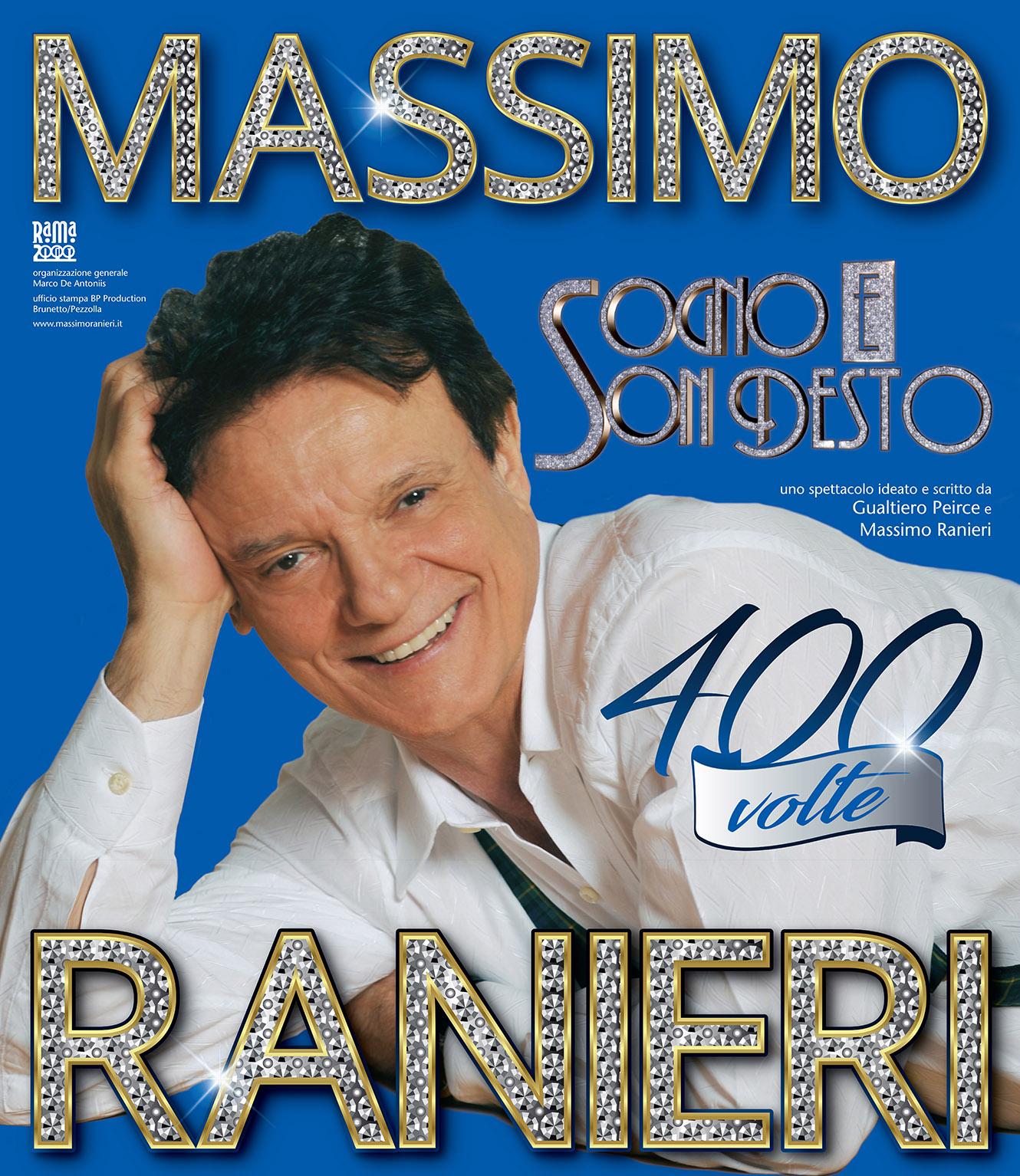 """Al Teatro Augusteo di Napoli sarà in scena Massimo Ranieri con lo spettacolo musicale """"Sogno e son desto 400 volte"""""""